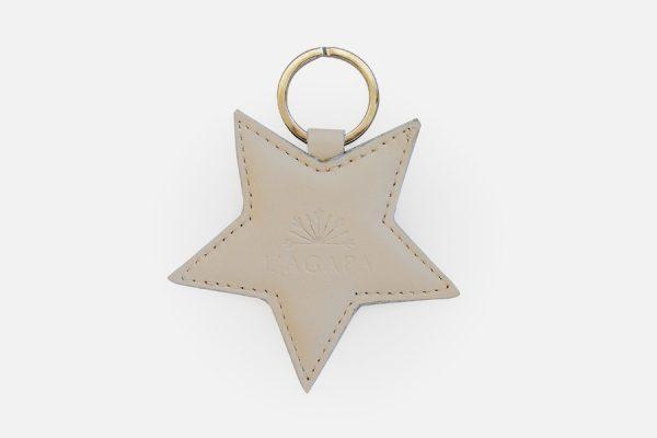 porte-clés étoile en cuir personnaliséscustom star leather key rings,