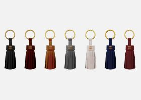 Custom tassel leather key rings