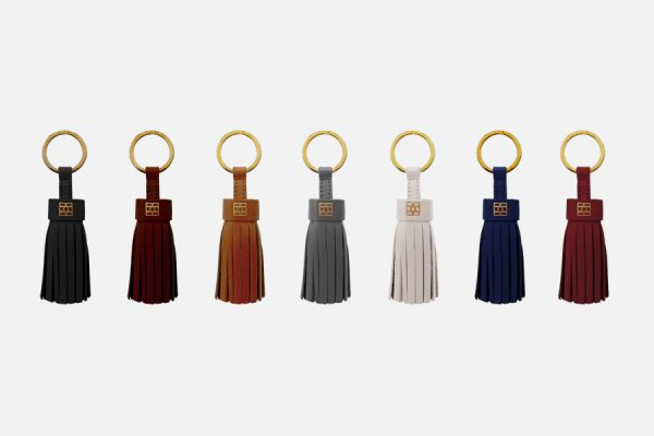 Custom tassel leather key rings,orte-clés pompons en cuir personnalisés