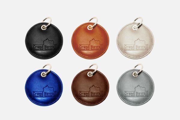 custom round leather key rings,porte-clés ronds en cuir personnalisés ... 79058c14cb2