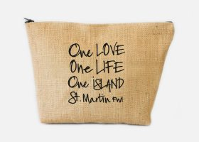 Custom jute pouch or cosmetic bag