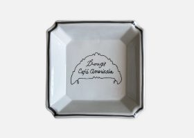 Custom square porcelain ashtray