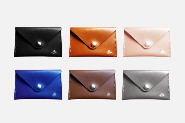 custom leather envelope card holder;porte-cartes enveloppe en cuir personnalisé