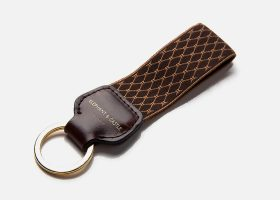 Custom strap fabric key rings