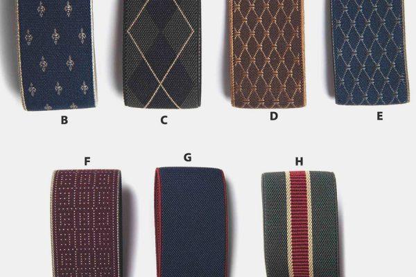 custom strap fabric key rings, porte-clés en tissu avec strap élastique personnalisables