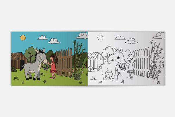 Bespoke colouring book, cahier de coloriage personnalisé
