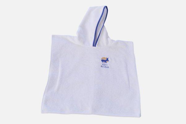 Poncho en éponge personnalisé pour enfants, Custom kids hooded poncho towel