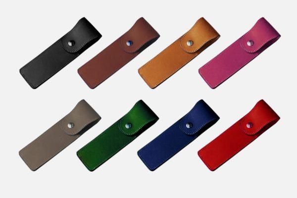Custom leather pen holder;Etui à stylo en cuir personnalisé