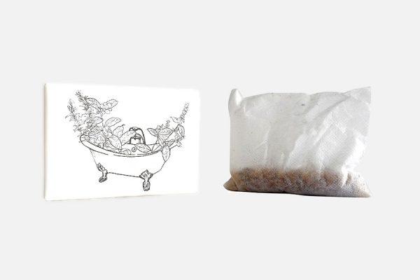 Custom natural bath salts; sels de bain personnalisés