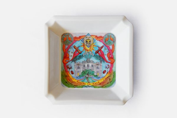 Cendrier carré personnalisable;custom square porcelain ashtray