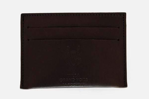 Porte-cartes en cuir à 3 fentes; 3 slits leather card holder