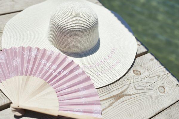 Embroidered wide brim straw hat, Capeline en paille personnalisée