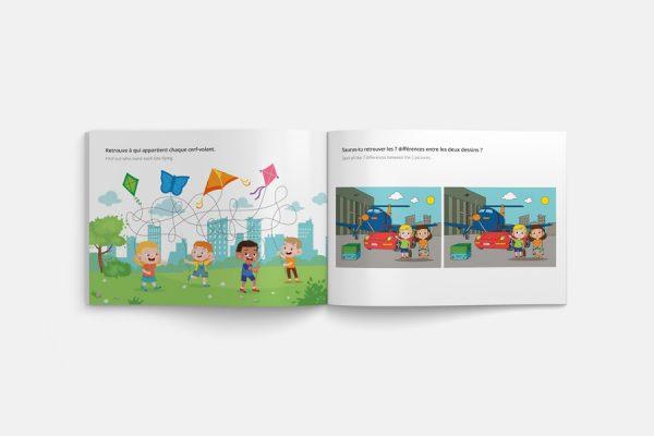 Custom fun activity book;Cahier d'activité personnalisé