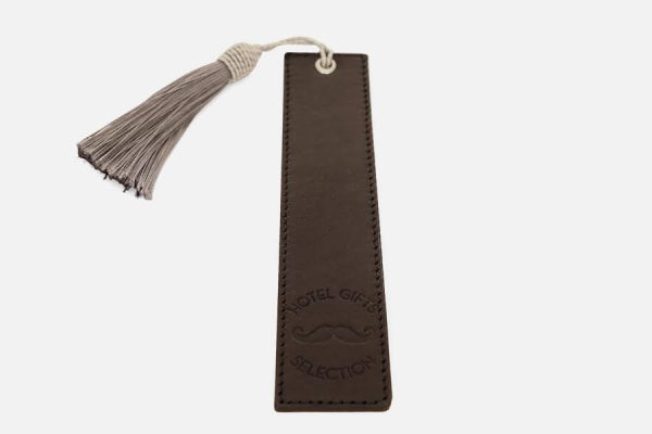 Custom leather bookmark with tassel;Marque-page personnalisé en cuir