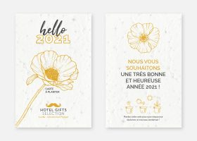 Carte à planter personnalisée;Custom plantable seeded postcards