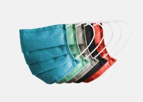 Rectangular Oeko-Tex cotton facemasks