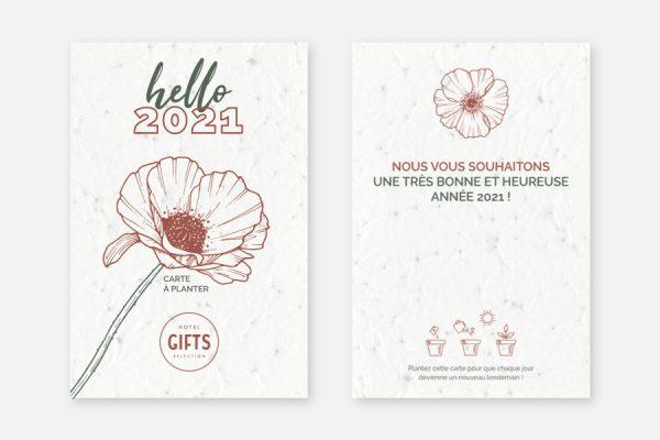 Carte à planter personnalisée;Custom plantable seeded postcards