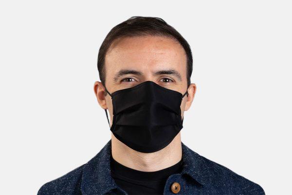 3 layers rectangular cotton facemasks;Masques rectangulaires 3 épaisseurs en coton