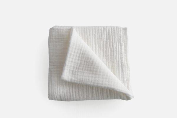 Custom organic cotton muslin square;Lange en gaz de coton personnalisé