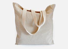 Custom linen Tote bag