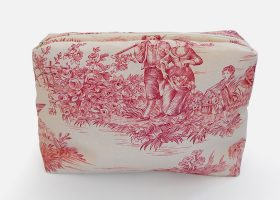 Toile de Jouy cosmetic bags