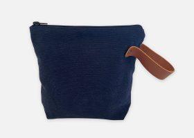 Custom stonewashed cosmetic bag